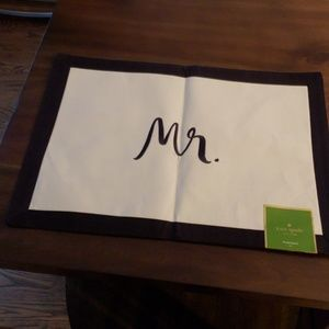 kate spade Other - Kate Spade Mr. And Mrs. place mat and napkins
